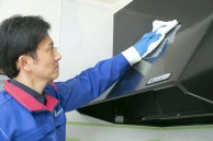 換気扇クリーニング組立、から拭き